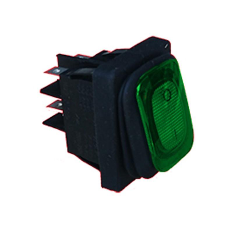 A040573V-Interrupteur bipolaire lumineux vert