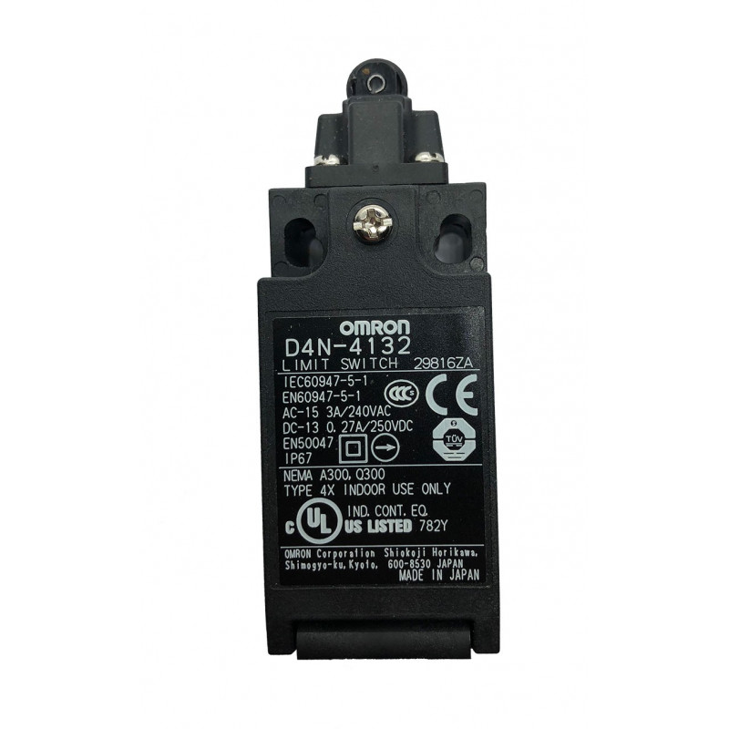 Commutateur de sécurité, Omron D4N-4132 Interrupteur bipolaire, NO/NF, type Poussoir à galet